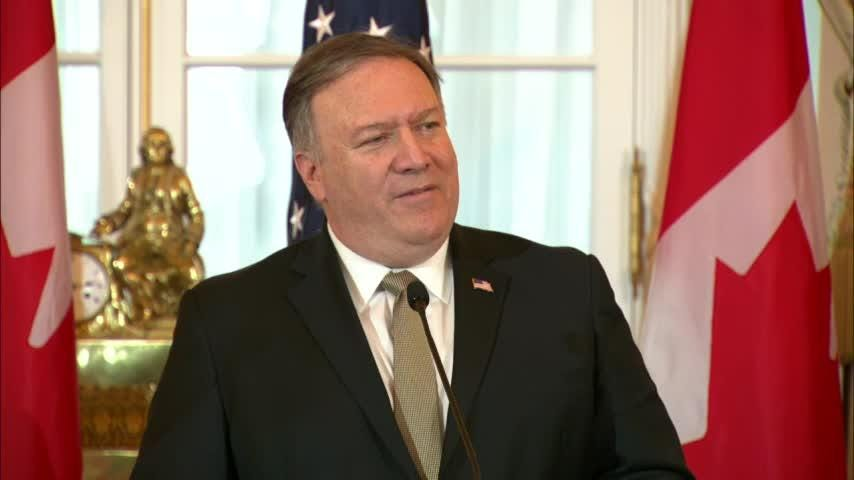 U.S. Secretary of State Mike Pompeo says the detention of two Canadian citizens in China is unlawful and is calling for them to be released. (Dec. 14)