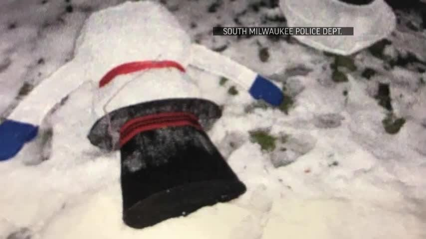 Vandals decapitated a snowman outside a South Milwaukee home, but the case took a turn the next morning when the vandals returned to apologize and offer $50 for a new snowman. (Dec. 14)