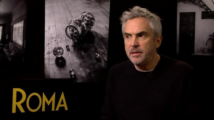 """""""Roma"""" director Alfonso Cuaron says he's seen changes in how the U.S. film academy treats foreign films. Releasing his critically-hailed film on Netflix and in theatres, he says measuring a film's success by box office numbers is """"perverse."""" (Dec. 14)"""