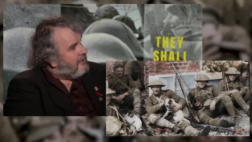 Peter Jackson's new WWI doc tells stories of boys who were on the front lines when they were just 14, 15 or 16 years old.But viewers that age won't be able to see the film without a parent when it's shown in U.S. theaters, due to an 'R' rating for disturbing war images. Jackson says he understands the ratings decision. (Dec. 13)