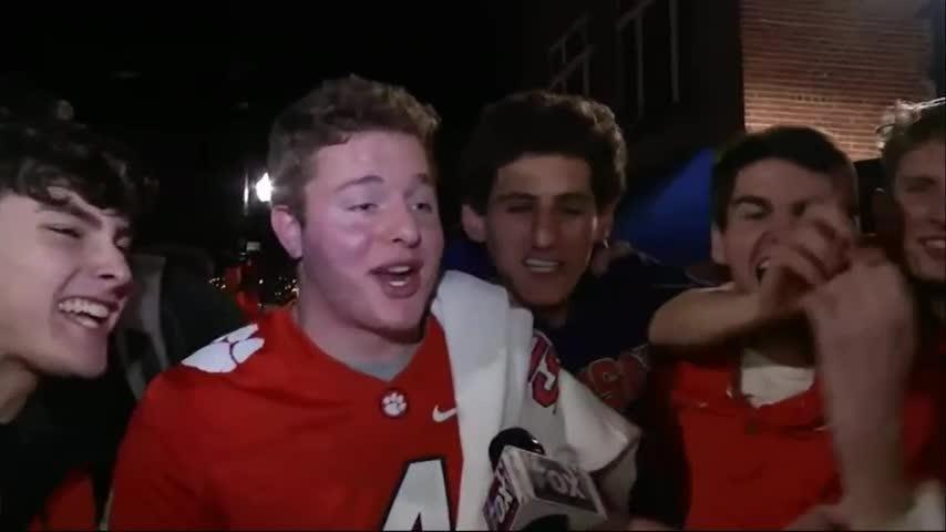 Clemson celebrates college football championship