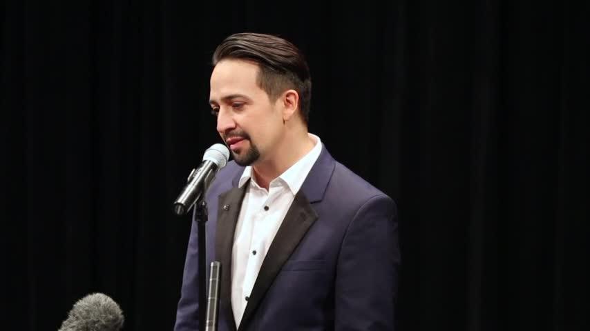 Miranda debuts 'Hamilton' in Puerto Rico