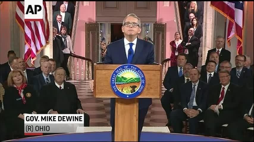 Ohio GOP Gov. Mike DeWine sworn in