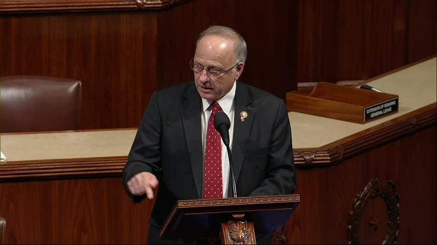 The House has approved a Democratic measure disapproving of Republican Rep. Steve King's comments about white supremacy. The nine-term Iowa congressman was among those supporting the measure, which was approved, 416-1. (Jan. 15)