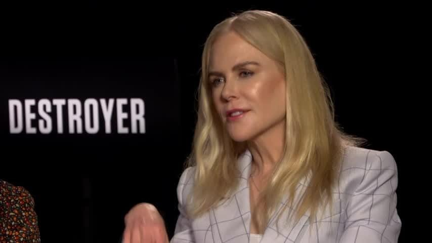 """Nicole Kidman hopes audiences won't be too distracted by her look in new dark thriller """"Destroyer,"""" where she plays a weathered, violent cop. (Jan. 17)"""