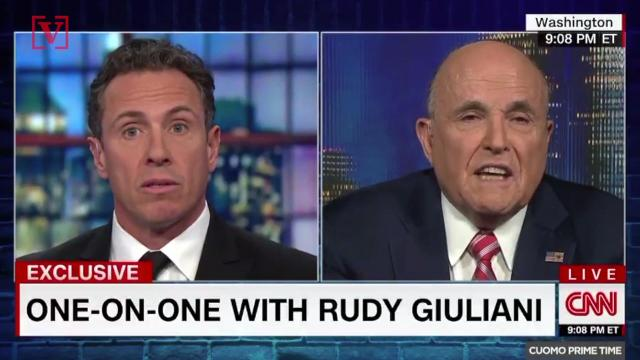 Rudy Giuliani vs Chris Cuomo again on CNN...this time it's over collusion. Veuer's Nick Cardona has that story.
