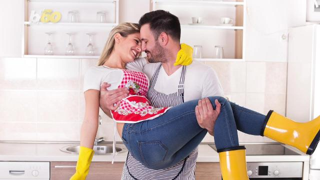 The secret to a happy relationship could be a tidy house