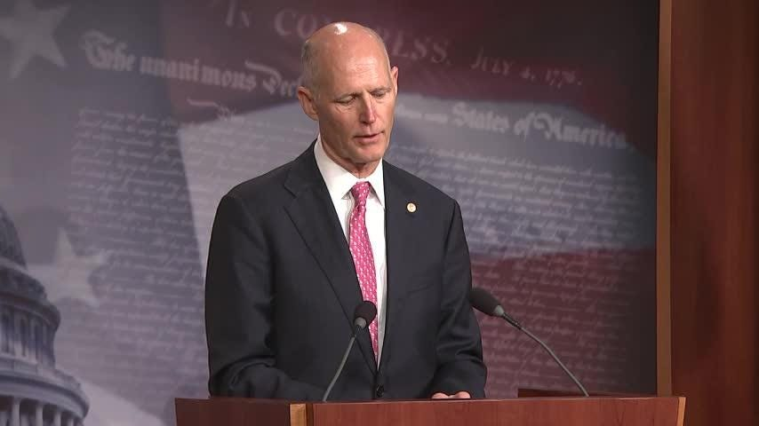 Florida Republican Senator Rick Scott is defending President Donald Trump's decision to reject a short-term fix to the partial government shutdown, indicating that he thinks Speaker of the House Nancy Pelosi is not acting in good faith. (Jan. 17)