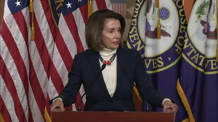 Speaker of the House Nancy Pelosi defended her suggestion to postpone the president's State of the Union address as long as the partial government shutdown continues. (Jan. 17)