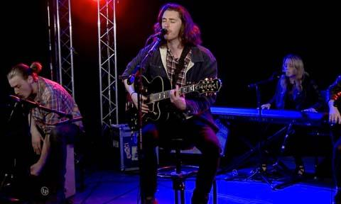 "Irish singer Hozier performs ""Take Me To Church"" for USA TODAY's StudioA."