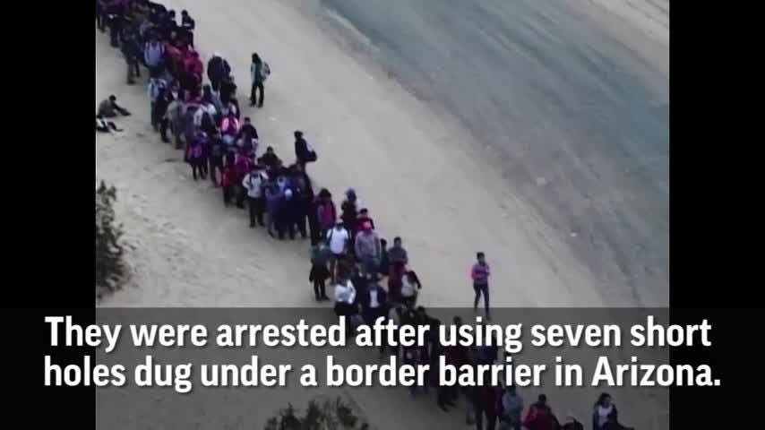 Migrants arrested in Arizona after crossing border
