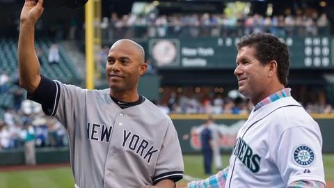 Mariano Rivera, Roy Halladay, Edgar Martinez and Mike Mussina were elected to the Baseball Hall of Fame on Tuesday.