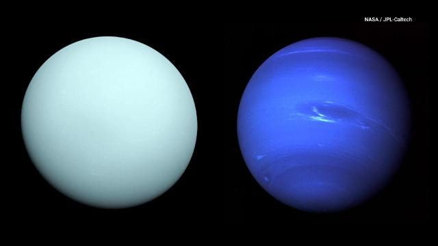 Uranus and Neptune switched spots four billion years ago