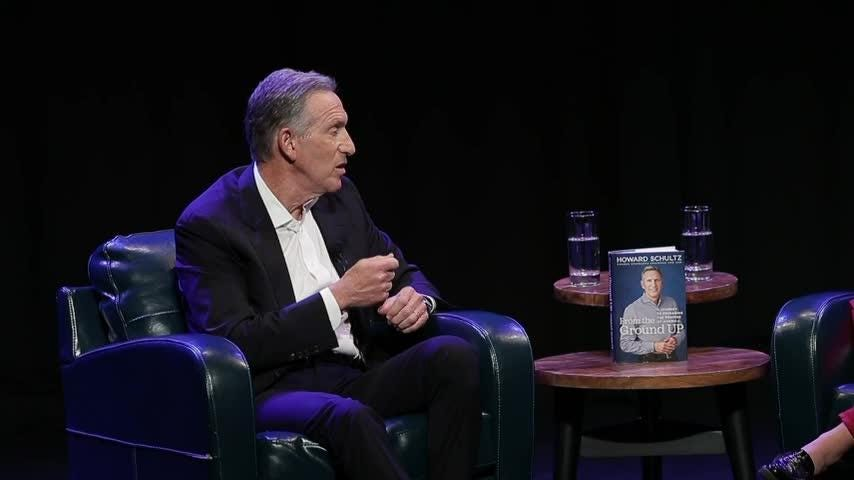 Ex-Starbucks CEO Howard Schultz faces questions in Seattle