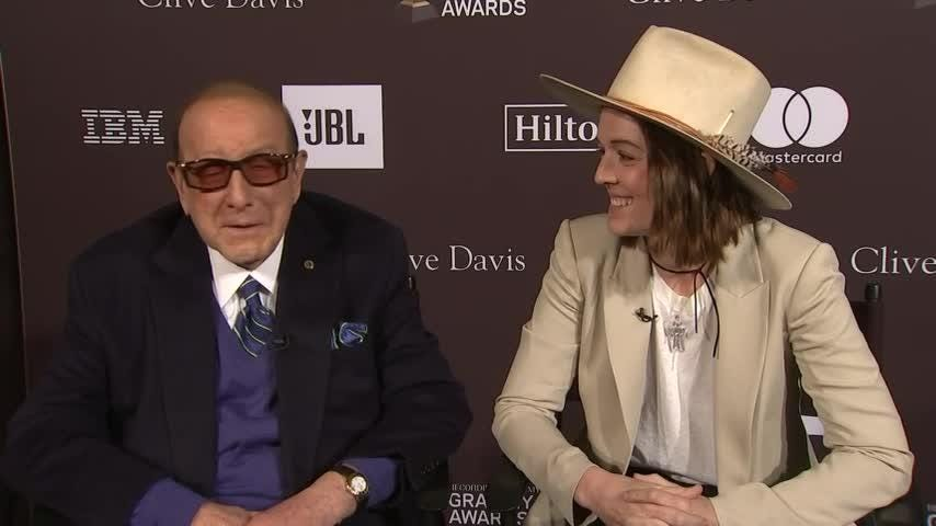 Brandi Carlile says she's nervous about performing at Clive Davis' legendary pre-Grammy party and praises the Recording Academy for their inclusivity this year.  (Feb. 8)