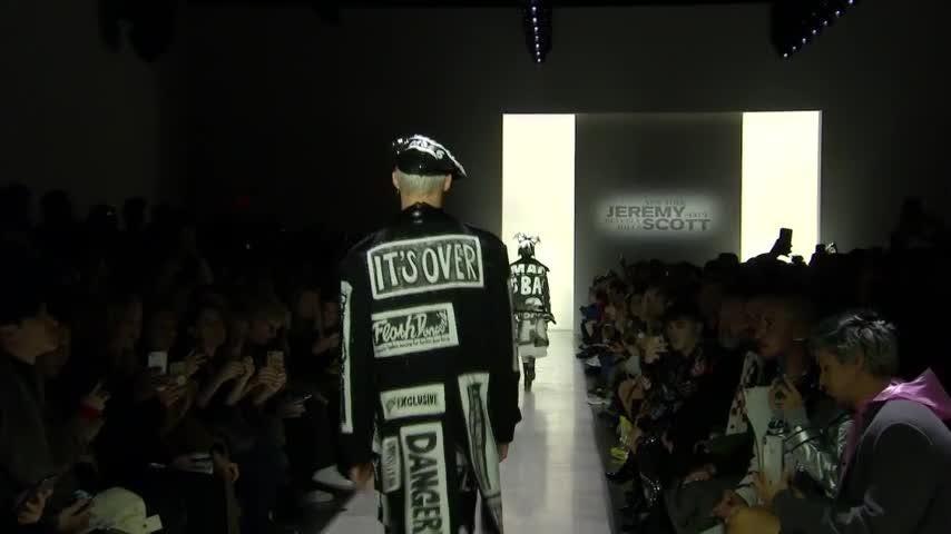 Extra! Jeremy Scott makes news (literally) on the runway