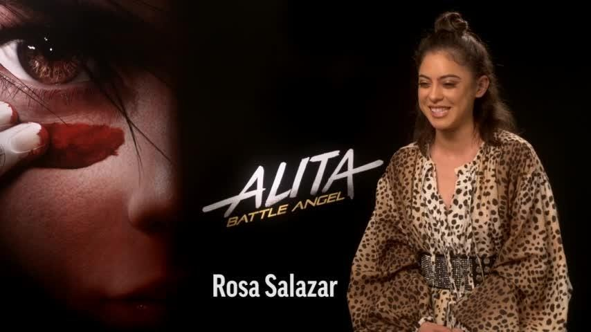 """""""Alita: Battle Angel"""" star Rosa Salazar opts for a teen heartthrob when asked to name her childhood crush. (Feb. 11)"""
