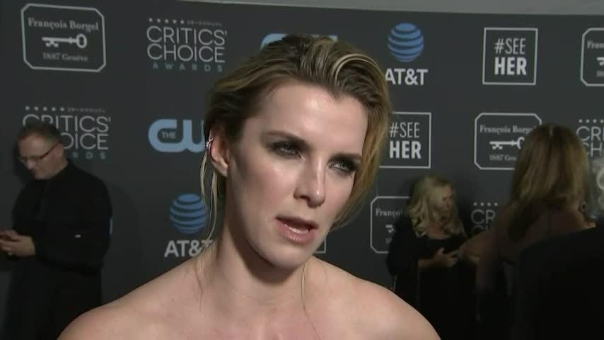 """Isn't It Romantic"" star Betty Gilpin had an unlikely passion - she got a glow from a Goodfella. (Feb. 13)"