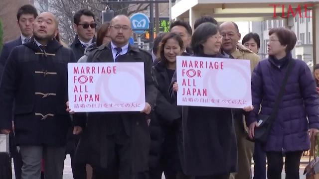 On Thursday, Valentine's Day,  a dozen same-sex couples in Japan's filed first lawsuits challenging the constitutionality of the country's rejection of same-sex marriage.