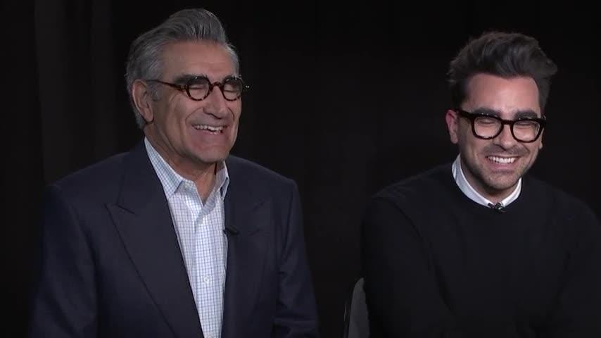"More than just good friends? ""Schitt's Creek"" star Dan Levy admits to a TV infatuation, while his dad, Eugene Levy, also had the hots for a small-screen star. (Feb. 15)"