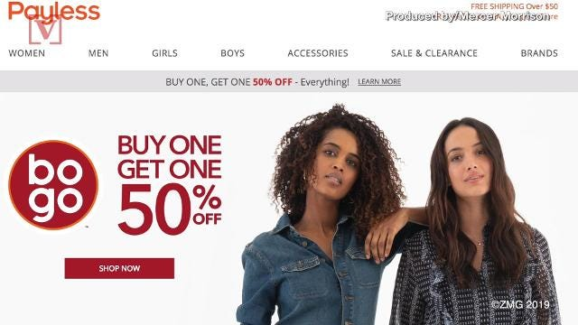 Payless ShoeSource to close US stores, shutter online orders