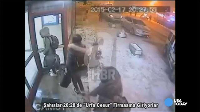 Surveillance video taken at a bus station in Turkey appears to show three British schoolgirls who left London, presumably to join the Islamic State in Syria.