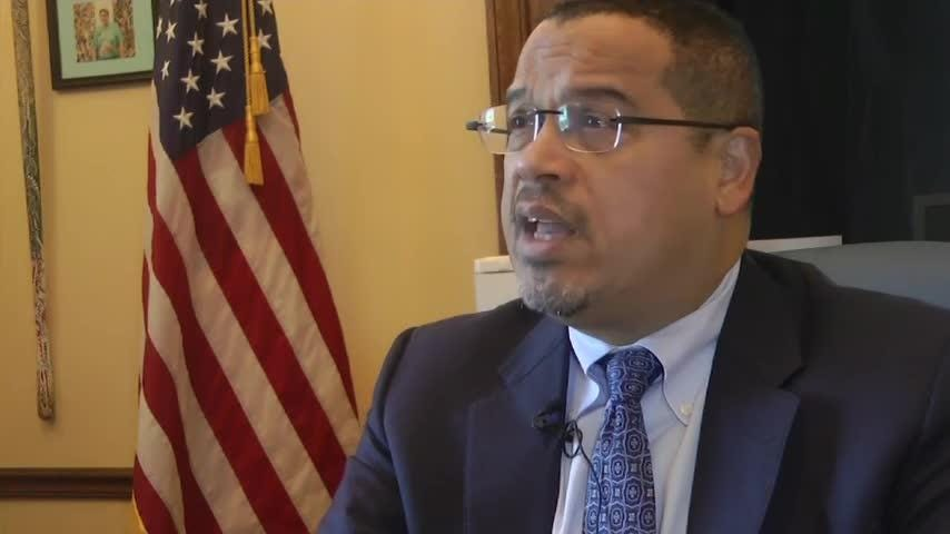 Minnesota Attorney General Keith Ellison says President Donald Trump's declaring a national emergency to complete a border wall is an improper use of presidential authority. Minnesota and 15 other states are suing to block Trump's declaration. (Feb. 19)
