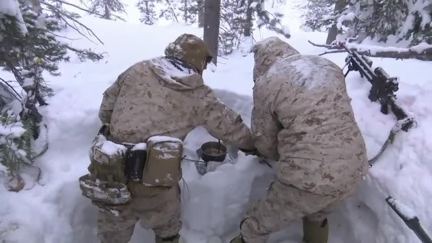 Marines train in climate that mimics Russia, Korea