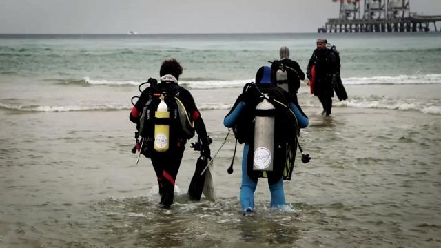 Every winter, as sea temperatures drop, sharks seeking warmer waters head to a northern Israeli shore, drawing enthusiasts who take the plunge in hopes of catching a glimpse of the enigmatic predators. Video provided by AFP