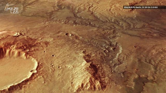 The European Space Agency's Mars Express satellite captured even more evidence the ancient Mars most likely was pretty wet.
