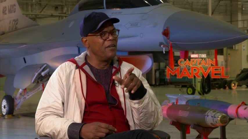 """Samuel L. Jackson sat down with Brie Larson, the latest actor to join the Marvel Cinematic Universe, to warn her about how her life would change after starring in """"Captain Marvel."""""""