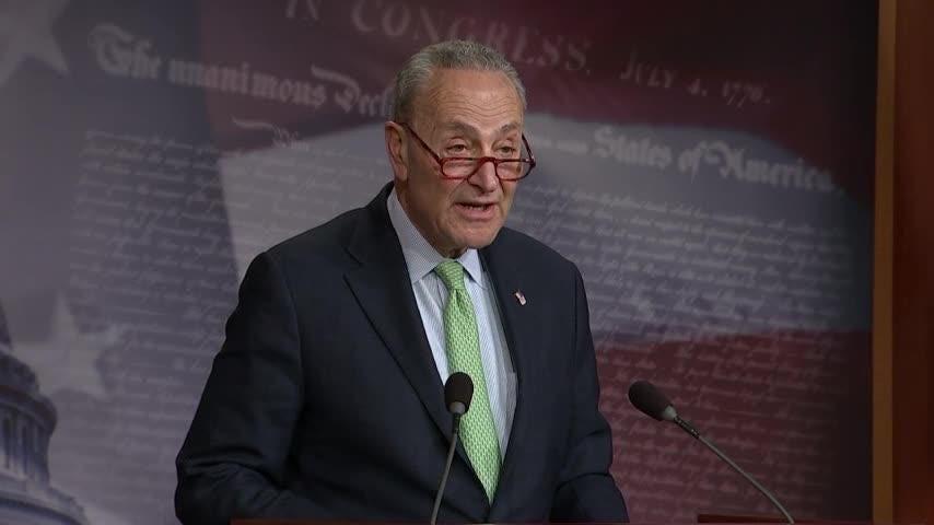 Schumer lauds Republicans for votes against Trump