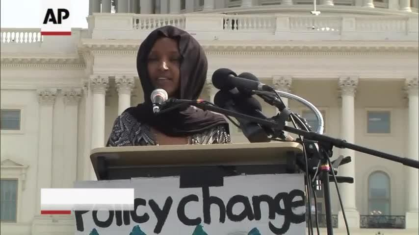 Truth or Not? Omar joins students to call for climate action