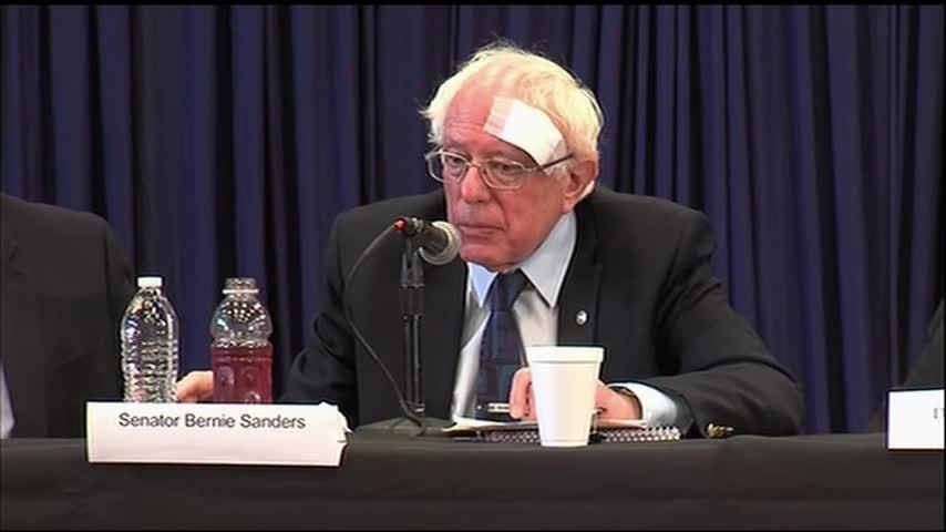 Truth or Not? Sanders gets stitches after a cut from shower door