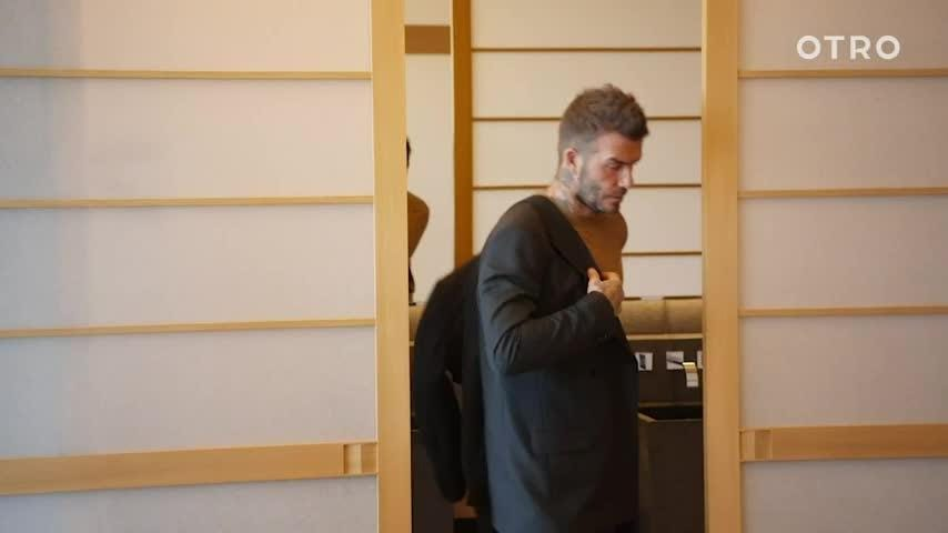 New app OTRO, which allows fans to get closer to their favorite soccer stars, shows David Beckham experiencing all the fashion and food that Tokyo has to offer. (March 18)