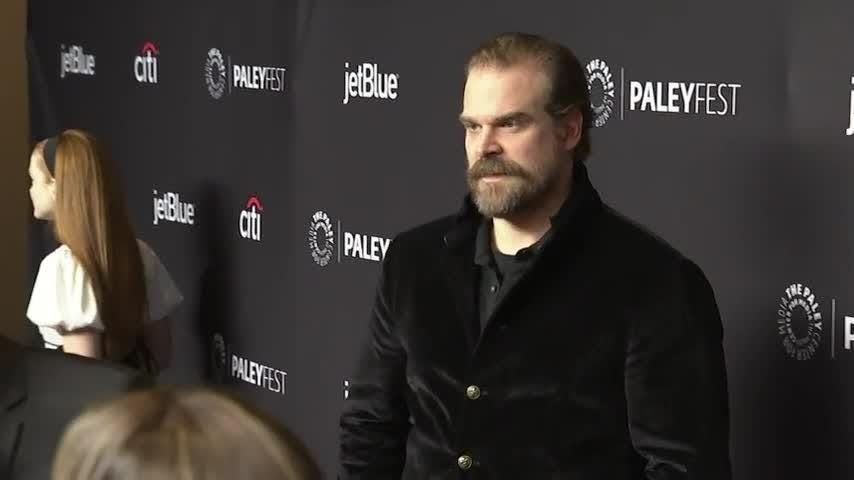 """Stranger Things"" star David Harbour says season three of the hit Netflix show will be ""lighter,"" while also promising ""all the dark stuff that we're kind of known for."" (March 18)"