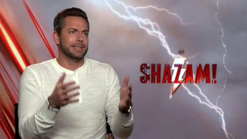 """""""Shazam!"""" star Zachary Levi says don't pit his film against Brie Larson and """"Captain Marvel."""" (March 19)"""
