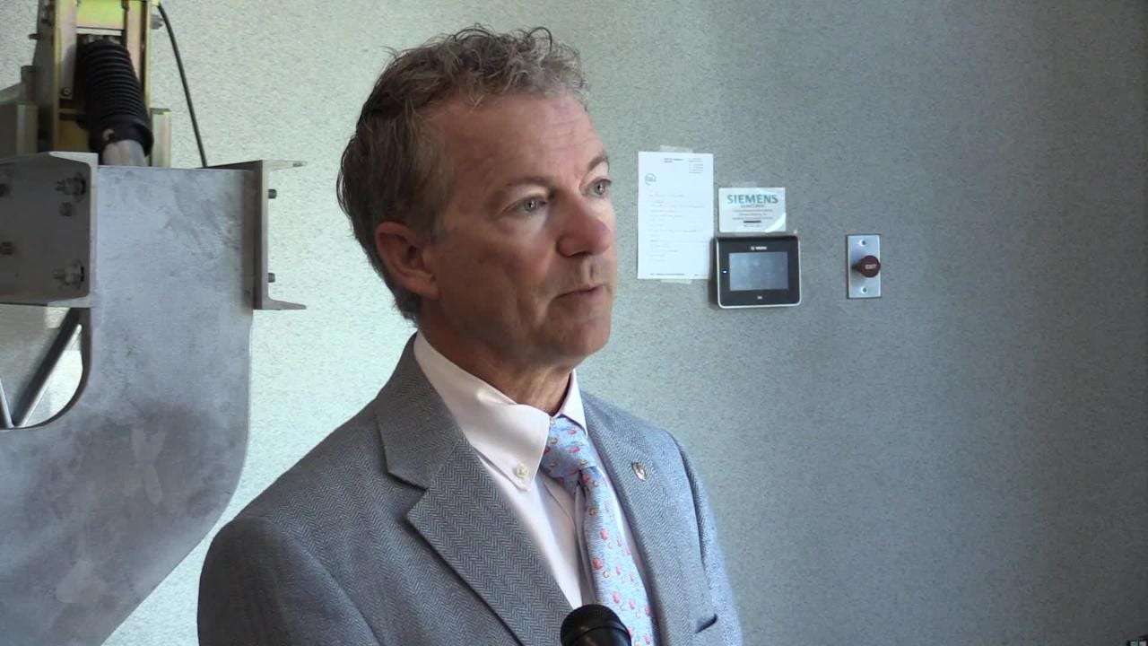 Rand Paul was in Louisville on Monday to tour Siemens. He talked to reporters about his opposition to the GOP health plan being proposed and how he believes a market-driven plan would be better