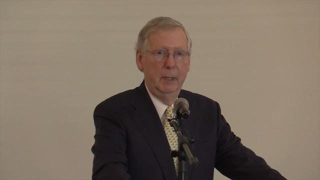 Sen. Mitch McConnell said repealing Obamacare is like a Rubik's Cube