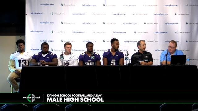 Male High School Football Media Day