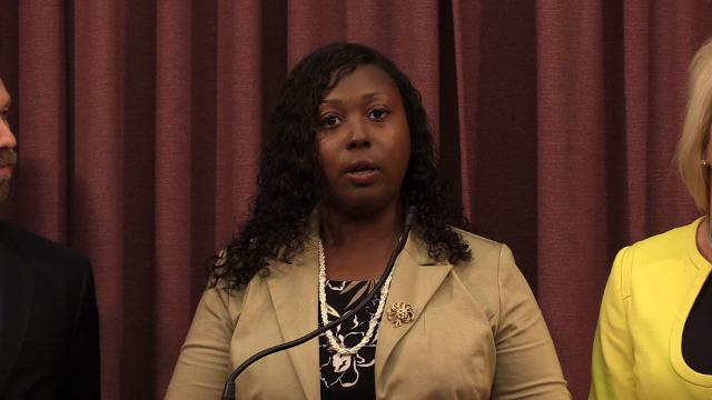 Metro Councilwoman Jessica Green speaks about the process of impeaching Dan Johnson