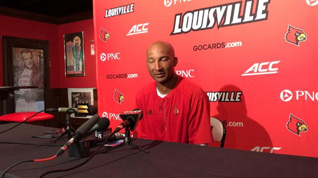 U of L's receivers coach and co-offensive coordinator says Jaylen Smith, Traveon Samuel and Seth Dawkins played well in their scrimmage.