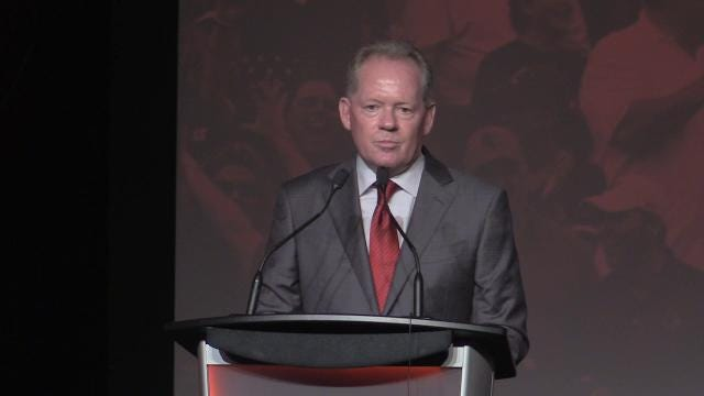 Louisville football coach Bobby Petrino talks about Lamar Jackson's work ethic, the team's workout schedule and what the season holds.