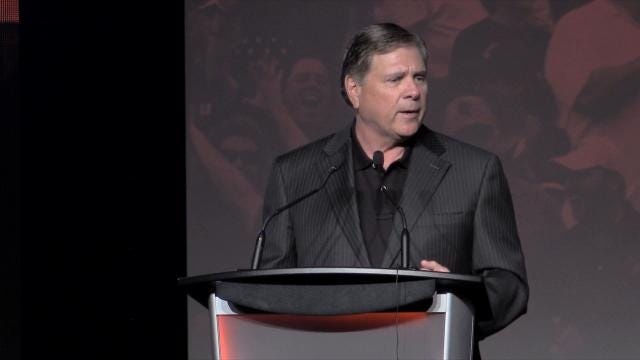 At the Louisville Football luncheon Tuesday, Tom Jurich took a few moments to praise Lamar Jackson on his 'humbleness' and work ethic.