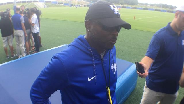 UK WR coach Lamar Thomas talks emotion of losing Dorian Baker