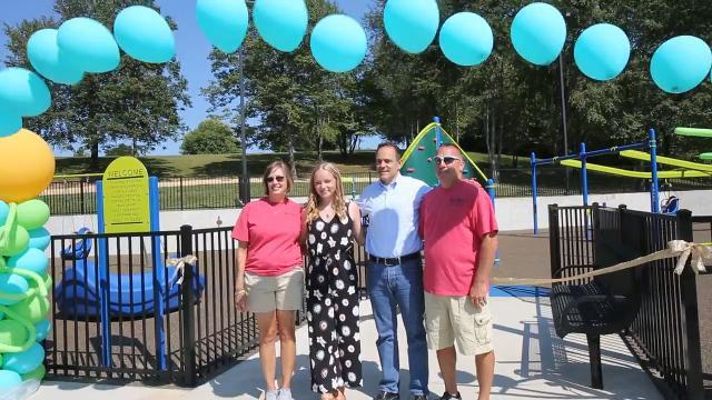 9-year-old's dream comes true with new playground