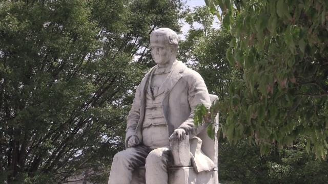 The history of the George D. Prentice statue