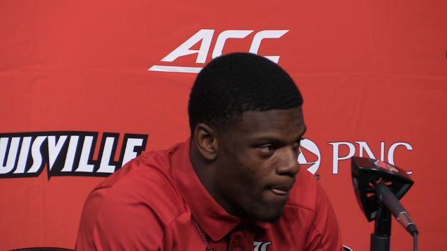 Louisville's Lamar Jackson on his game against Purdue