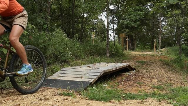 The new Silo Center Bike Park at The Parklands of Floyd's Fork has pump track and flow trails that can be ridden by riders at all skill levels. The new bike area hopes to help promote mountain biking, but also skill level development.