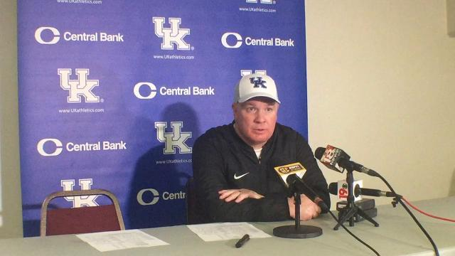UK coach Mark Stoops breaks down South Carolina win